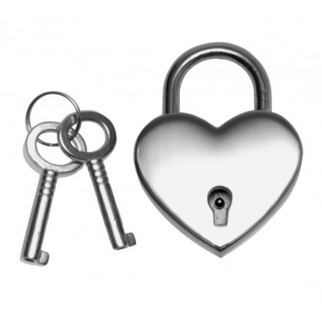 Heart Shaped Nickle Polished Padlock