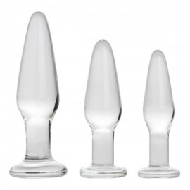 Dosha 3 Piece Glass Anal Plug Kit