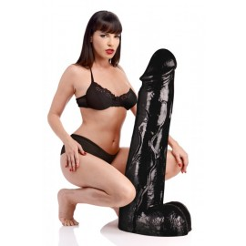 Moby Huge 3 Foot Tall Black Super Dildo