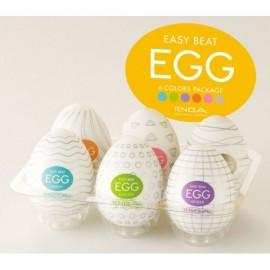 Tenga Beat Egg Six Color Masturbator Six Pack