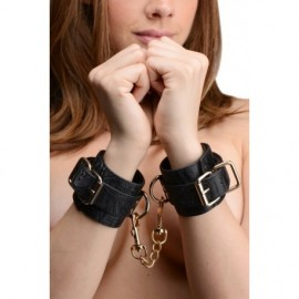 Captured Embroidered Black Wrist Cuffs