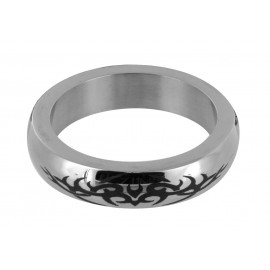 Stainless Steel Medium Cock Ring with Tribal Design