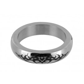 Stainless Steel Small Cock Ring with Tribal Design