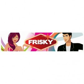 Frisky Display Sign