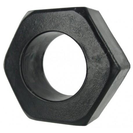 Black HexNut Cock Ring
