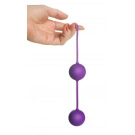 Twin Purple Silicone BenWa Beads