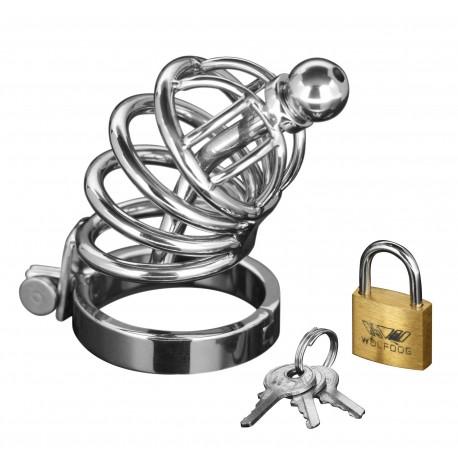 Asylum 4 Ring Locking S/M Chastity Cage