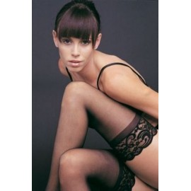 Stay-Up 3-Inch Black Lace Top Lycra