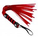 Short Red Suede Flogger