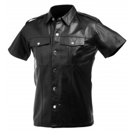 Large Lambskin Leather Police Shirt