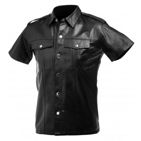 Large Lambskin Leather Police Shirt