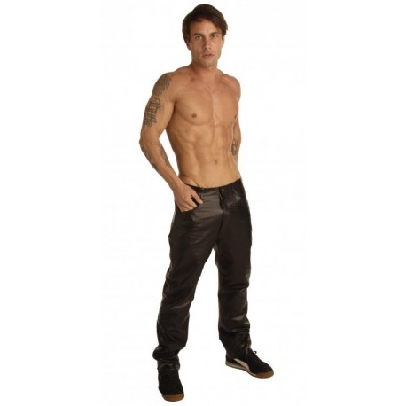 Mens Leather 38 Inch Waist Pants