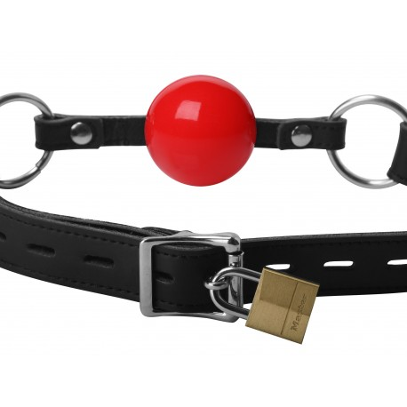 Classic Locking Red Silicone Ball Gag
