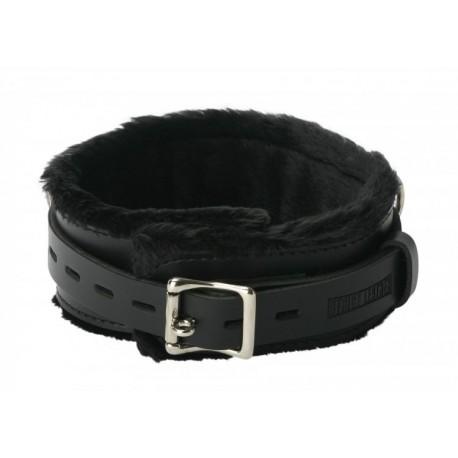 Strict Leather Premium XL Fur Lined Locking Collar