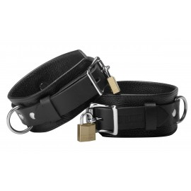 Strict Leather Deluxe Locking Ankle Cuffs