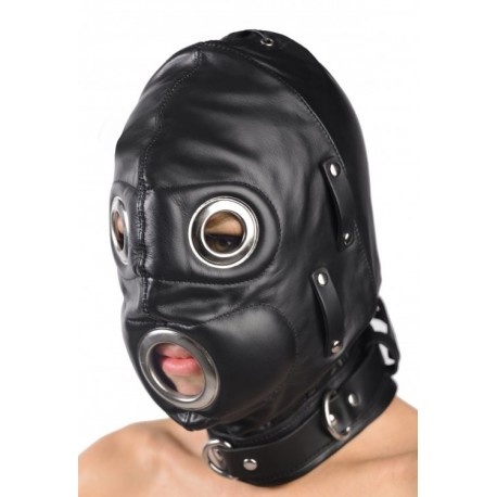 Total Lockdown Leather Hood - Medium/Large