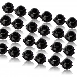 48 Pack of 2 Black Gummy Cock Rings