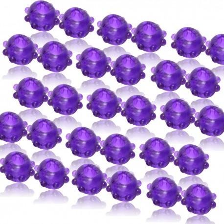 2 Purple Gummy Cock Rings - 48 Pack