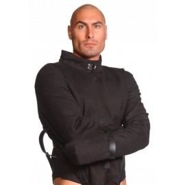 Strict Leather Black Canvas Large Straitjacket