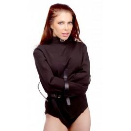 Strict Leather Black Canvas Medium Straitjacket