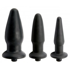 Trinity Silicone Vibrating Butt Plug- Kit