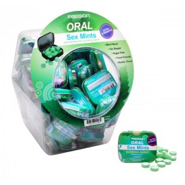 60 Piece Oral Sex Mints with Numbing Agent Retail Fishbowl Display