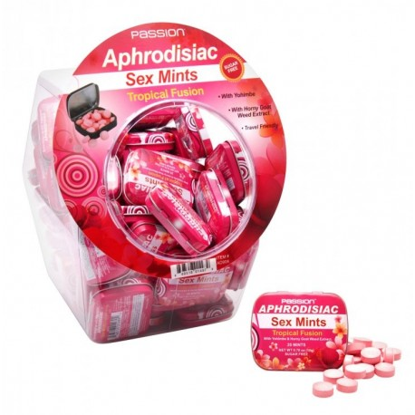 60 Piece Tropical Fusion Aphrodisiac Sex Mints Retail Fishbowl Display