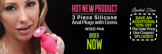 Receive an Additional 10% off the Sale Price on the New Pink 3 Piece Anal Plug Set