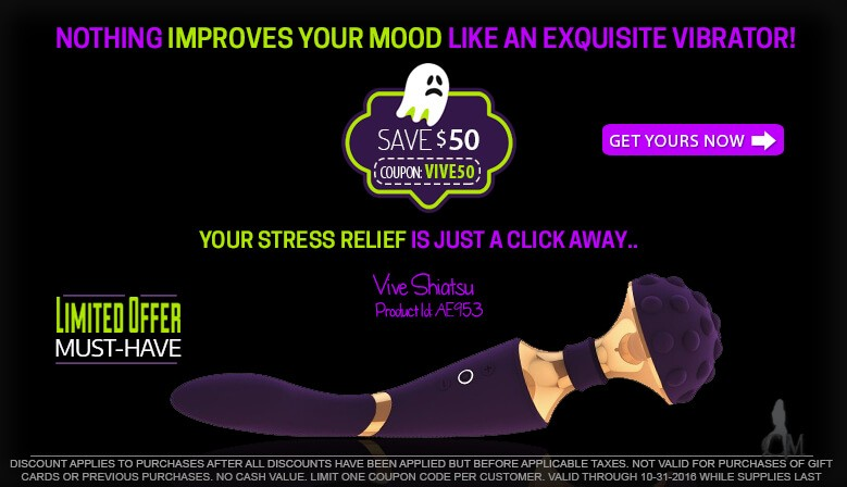 Enjoy a Spook-Tacular Savings of $50.00 on the Exquisite Vive Shiatsu Wand Vibrator AE953 For a Limited Time While Supplies Last
