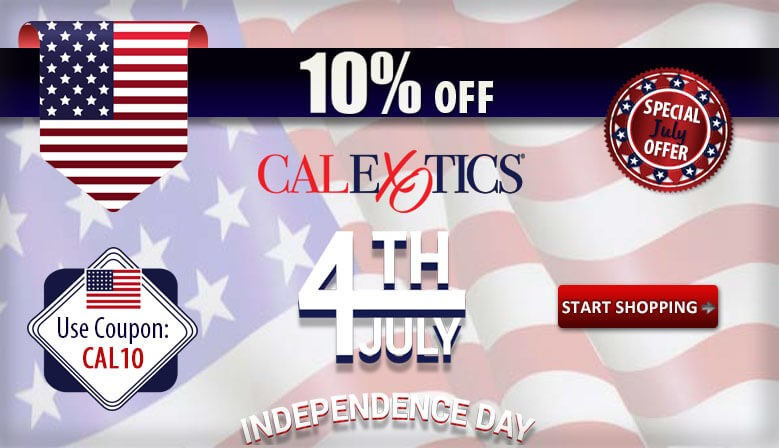 Celebrate Forth of July with CalExotics and Save 10% off CalExotics all Month.