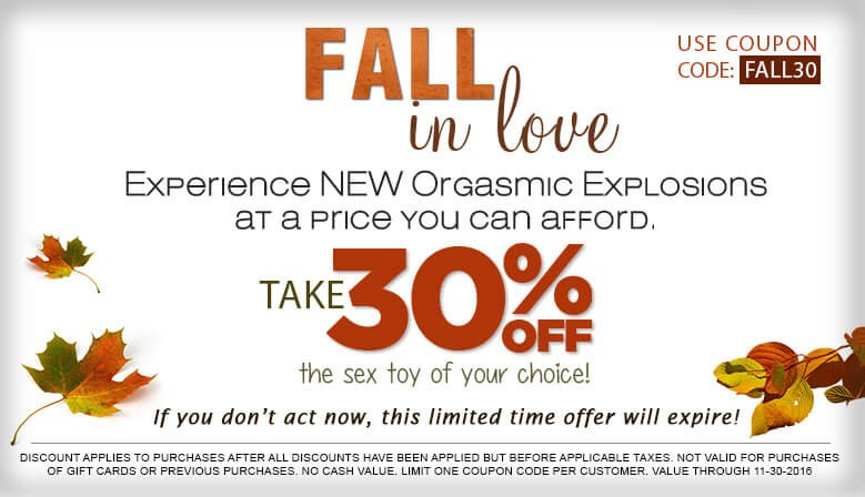 Fall in Love with Your Favorite Sex Toy of Your Choice and Save 30% Off
